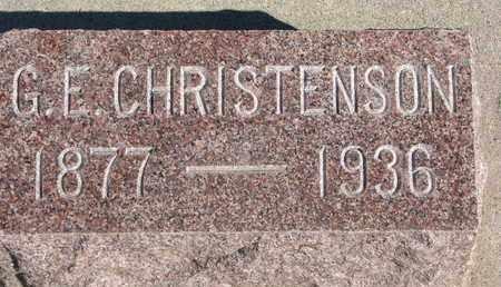 CHRISTENSON, G.E. - Union County, South Dakota | G.E. CHRISTENSON - South Dakota Gravestone Photos