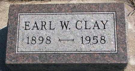 CLAY, EARL W. - Union County, South Dakota | EARL W. CLAY - South Dakota Gravestone Photos
