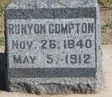 COMPTON, RUNYON - Union County, South Dakota   RUNYON COMPTON - South Dakota Gravestone Photos