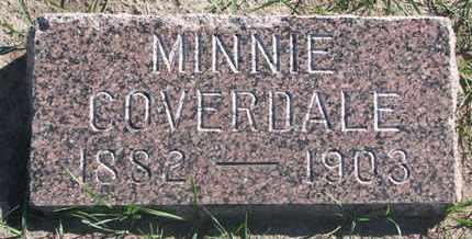 COVERDALE, MINNIE - Union County, South Dakota   MINNIE COVERDALE - South Dakota Gravestone Photos