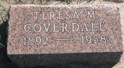 COVERDALE, TERESA M. - Union County, South Dakota | TERESA M. COVERDALE - South Dakota Gravestone Photos