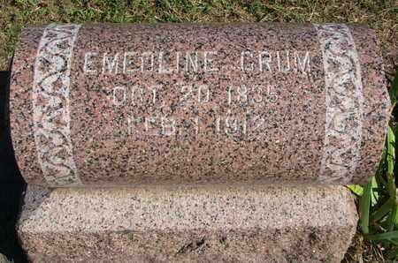 CRUM, EMEOLINE - Union County, South Dakota | EMEOLINE CRUM - South Dakota Gravestone Photos