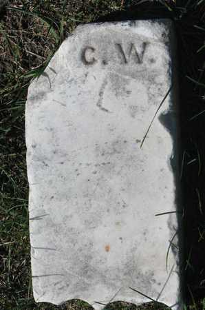 C.W., UNKNOWN - Union County, South Dakota | UNKNOWN C.W. - South Dakota Gravestone Photos
