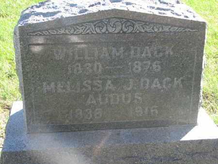 DACK, WILLIAM - Union County, South Dakota | WILLIAM DACK - South Dakota Gravestone Photos