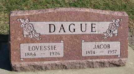 DAGUE, LOVESSIE - Union County, South Dakota   LOVESSIE DAGUE - South Dakota Gravestone Photos
