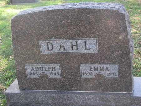 DAHL, EMMA - Union County, South Dakota   EMMA DAHL - South Dakota Gravestone Photos