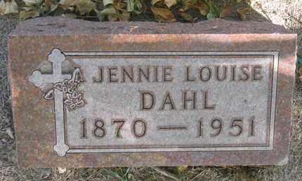 DAHL, JENNIE LOUISE - Union County, South Dakota   JENNIE LOUISE DAHL - South Dakota Gravestone Photos