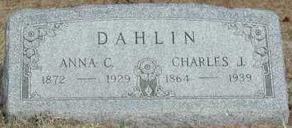 DAHLIN, CHARLES J. - Union County, South Dakota | CHARLES J. DAHLIN - South Dakota Gravestone Photos