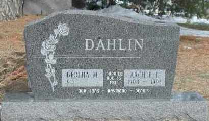 DAHLIN, BERTHA M. - Union County, South Dakota | BERTHA M. DAHLIN - South Dakota Gravestone Photos