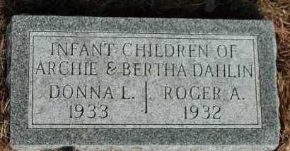 DAHLIN, ROGER A. - Union County, South Dakota   ROGER A. DAHLIN - South Dakota Gravestone Photos