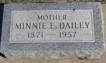 DAILEY, MINNIE E. - Union County, South Dakota   MINNIE E. DAILEY - South Dakota Gravestone Photos