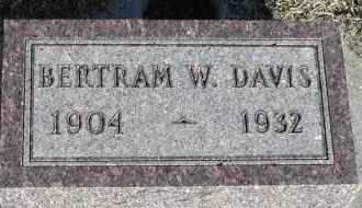 DAVIS, BERTRAM W - Union County, South Dakota | BERTRAM W DAVIS - South Dakota Gravestone Photos
