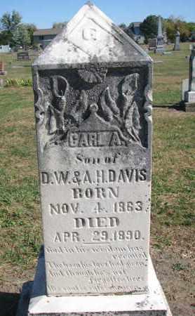 DAVIS, CARL A. - Union County, South Dakota   CARL A. DAVIS - South Dakota Gravestone Photos