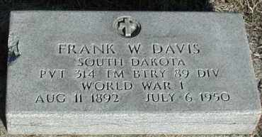 DAVIS, FRANK W - Union County, South Dakota | FRANK W DAVIS - South Dakota Gravestone Photos