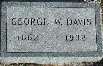 DAVIS, GEORGE W - Union County, South Dakota   GEORGE W DAVIS - South Dakota Gravestone Photos