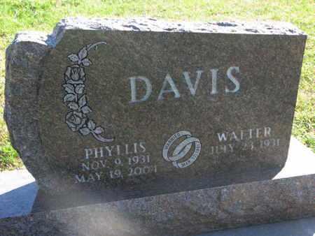 DAVIS, WALTER - Union County, South Dakota   WALTER DAVIS - South Dakota Gravestone Photos