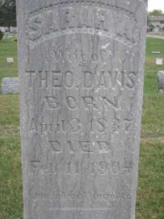 DAVIS, SARAH A. (CLOSEUP) - Union County, South Dakota | SARAH A. (CLOSEUP) DAVIS - South Dakota Gravestone Photos