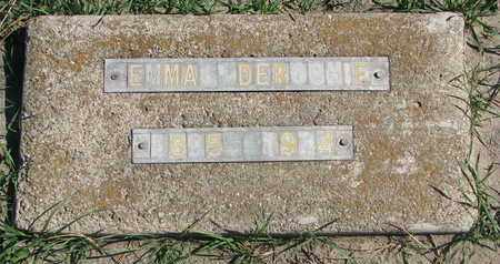 DEROCHIE, EMMA - Union County, South Dakota   EMMA DEROCHIE - South Dakota Gravestone Photos
