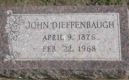 DIEFFENBAUGH, JOHN - Union County, South Dakota | JOHN DIEFFENBAUGH - South Dakota Gravestone Photos