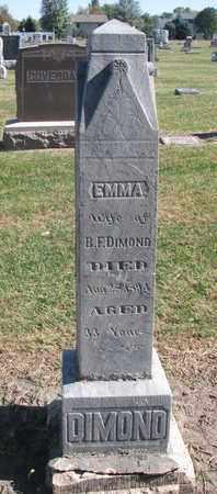 DIMOND, EMMA - Union County, South Dakota   EMMA DIMOND - South Dakota Gravestone Photos