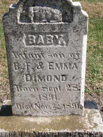 DIMOND, INFANT SON - Union County, South Dakota | INFANT SON DIMOND - South Dakota Gravestone Photos