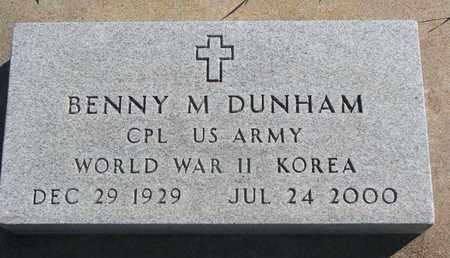 DUNHAM, BENNY M. (WORLD WAR II-KOREA) - Union County, South Dakota | BENNY M. (WORLD WAR II-KOREA) DUNHAM - South Dakota Gravestone Photos