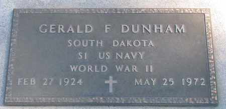DUNHAM, GERALD F. (WORLD WAR II) - Union County, South Dakota | GERALD F. (WORLD WAR II) DUNHAM - South Dakota Gravestone Photos