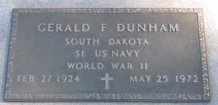 DUNHAM, GERALD F. (WORLD WAR II) - Union County, South Dakota   GERALD F. (WORLD WAR II) DUNHAM - South Dakota Gravestone Photos