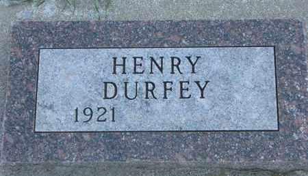 DURFEY, HENRY - Union County, South Dakota | HENRY DURFEY - South Dakota Gravestone Photos