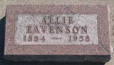 EAVENSON, ALLIE - Union County, South Dakota | ALLIE EAVENSON - South Dakota Gravestone Photos