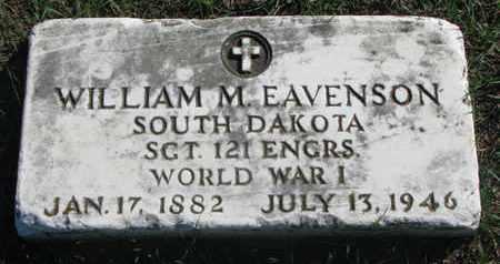 EAVENSON, WILLIAM M. (WORLD WAR I) - Union County, South Dakota | WILLIAM M. (WORLD WAR I) EAVENSON - South Dakota Gravestone Photos