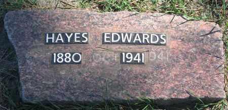 EDWARDS, HAYES - Union County, South Dakota | HAYES EDWARDS - South Dakota Gravestone Photos