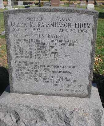 EIDEM, CLARA M. - Union County, South Dakota | CLARA M. EIDEM - South Dakota Gravestone Photos
