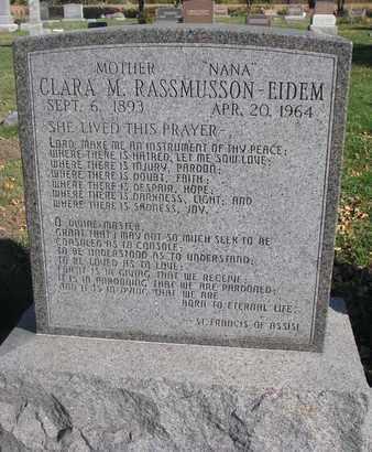 EIDEM, CLARA M. - Union County, South Dakota | CLARA M. EIDEM - South Dakota Gravestone Photos