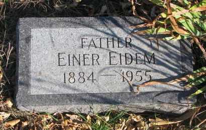 EIDEM, EINER - Union County, South Dakota   EINER EIDEM - South Dakota Gravestone Photos