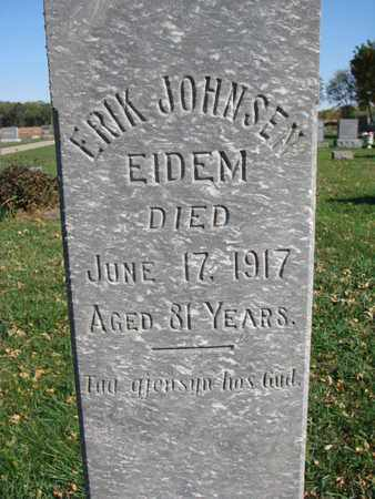 EIDEM, ERIK JOHNSEN (CLOSEUP) - Union County, South Dakota | ERIK JOHNSEN (CLOSEUP) EIDEM - South Dakota Gravestone Photos