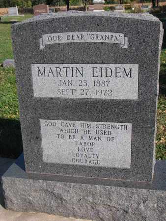 EIDEM, MARTIN - Union County, South Dakota | MARTIN EIDEM - South Dakota Gravestone Photos