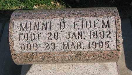 EIDEM, MINNI O. - Union County, South Dakota | MINNI O. EIDEM - South Dakota Gravestone Photos