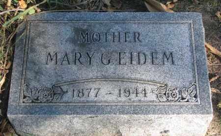 EIDEM, MARY G. - Union County, South Dakota | MARY G. EIDEM - South Dakota Gravestone Photos