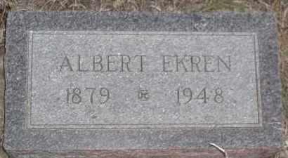 EKREN, ALBERT P - Union County, South Dakota | ALBERT P EKREN - South Dakota Gravestone Photos