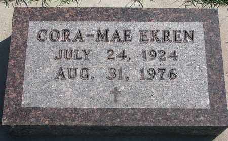 EKREN, CORA-MAE - Union County, South Dakota | CORA-MAE EKREN - South Dakota Gravestone Photos