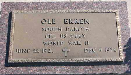 EKREN, OLE (WORLD WAR II) - Union County, South Dakota | OLE (WORLD WAR II) EKREN - South Dakota Gravestone Photos
