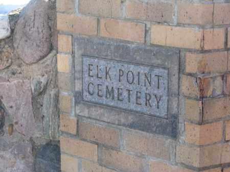 **ELK POINT, GATE SIGN - Union County, South Dakota | GATE SIGN **ELK POINT - South Dakota Gravestone Photos