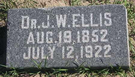 ELLIS, J.W. (DR.) - Union County, South Dakota | J.W. (DR.) ELLIS - South Dakota Gravestone Photos