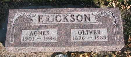 ERICKSON, AGNES - Union County, South Dakota | AGNES ERICKSON - South Dakota Gravestone Photos