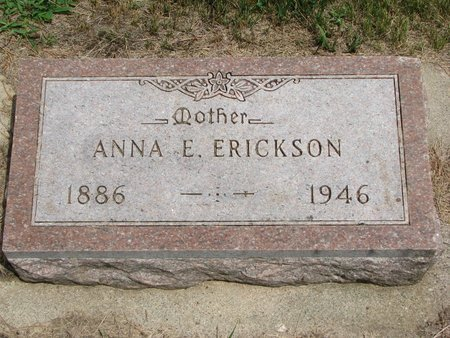 ERICKSON, ANNA E. - Union County, South Dakota | ANNA E. ERICKSON - South Dakota Gravestone Photos