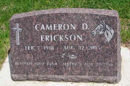 ERICKSON, CAMERON D. - Union County, South Dakota | CAMERON D. ERICKSON - South Dakota Gravestone Photos