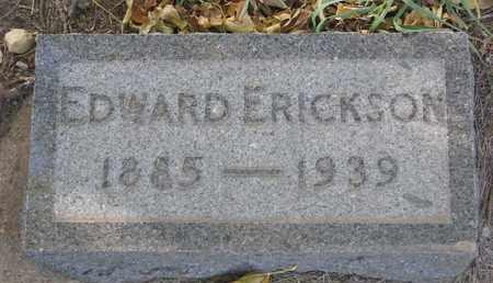 ERICKSON, EDWARD - Union County, South Dakota | EDWARD ERICKSON - South Dakota Gravestone Photos