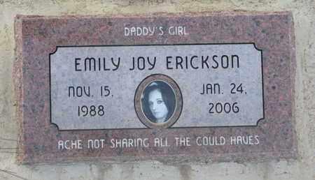 ERICKSON, EMILY JOY - Union County, South Dakota   EMILY JOY ERICKSON - South Dakota Gravestone Photos