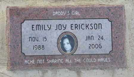 ERICKSON, EMILY JOY - Union County, South Dakota | EMILY JOY ERICKSON - South Dakota Gravestone Photos